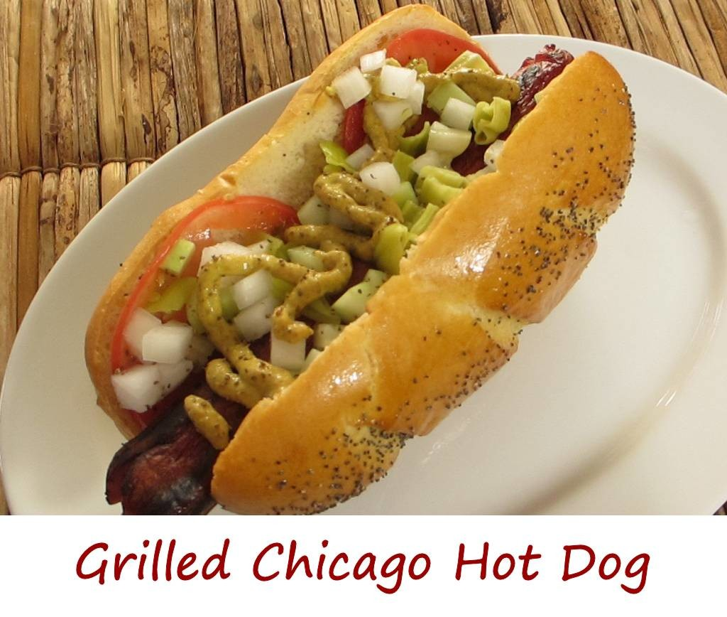 Grilled Chicago Hot Dog