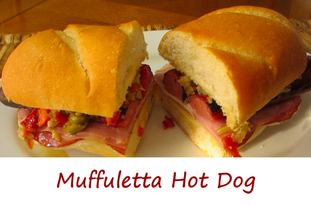 Muffuletta Hot Dog