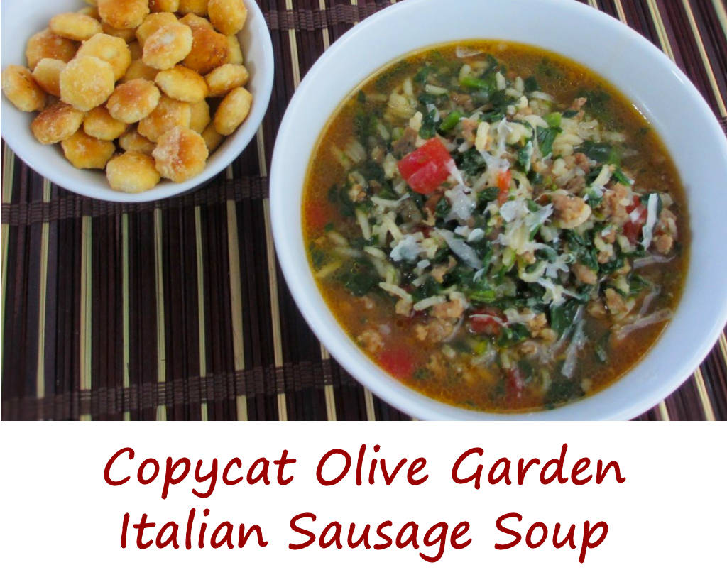 Copycat olive garden italian sausage soup life 39 s a - What kind of soup does olive garden have ...