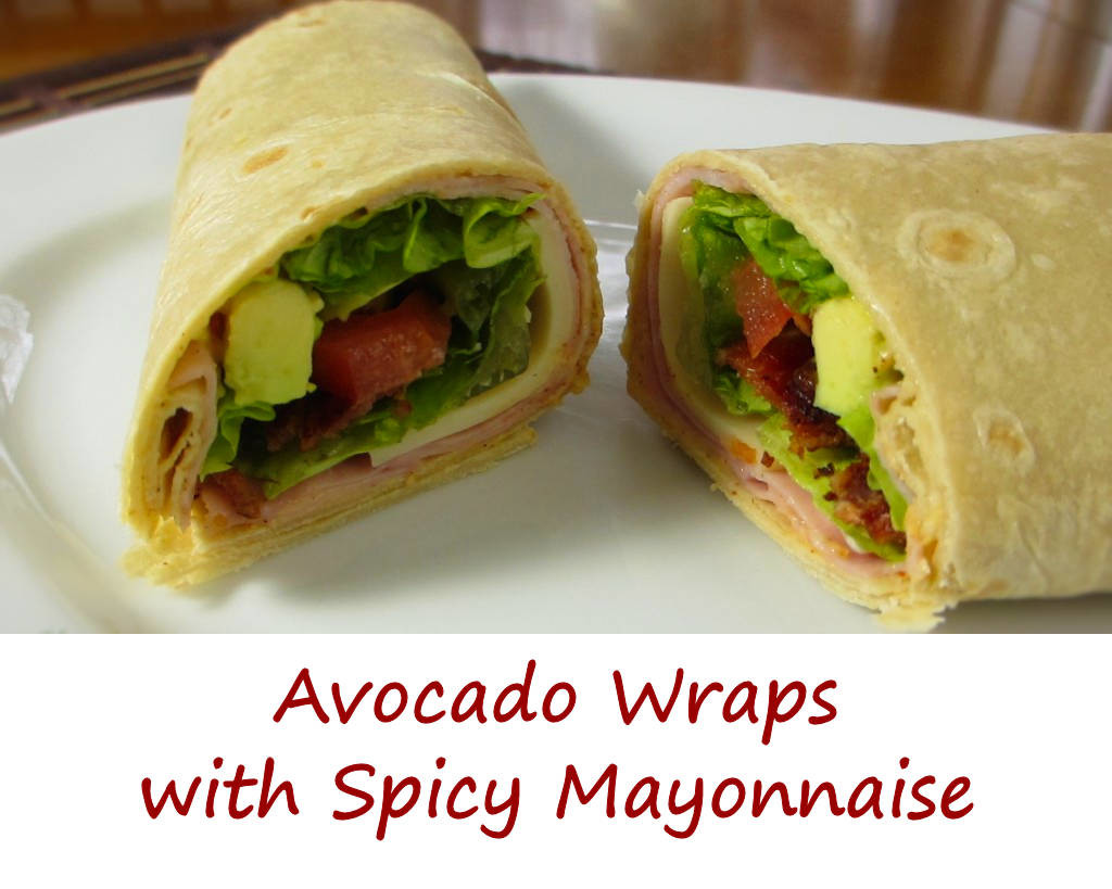 Avocado Wraps with Spicy Mayonnaise