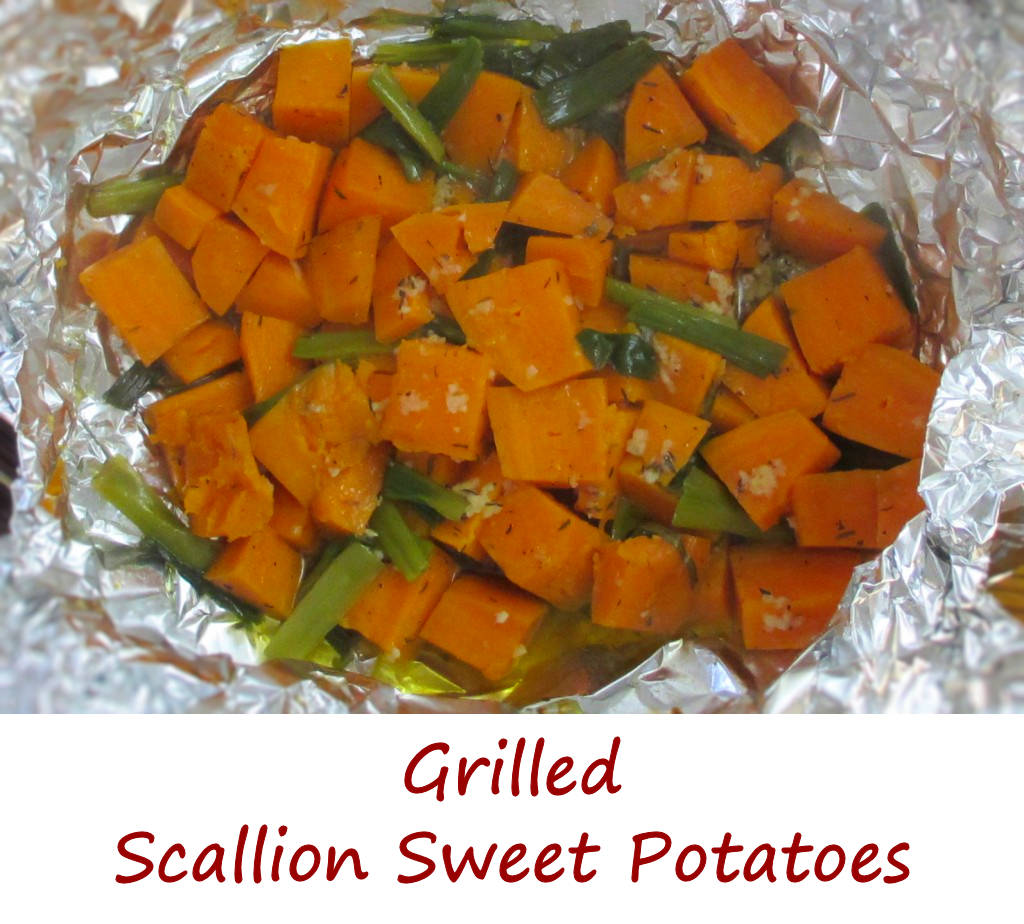 Grilled Scallion Sweet Potatoes - Life's A TomatoLife's A Tomato