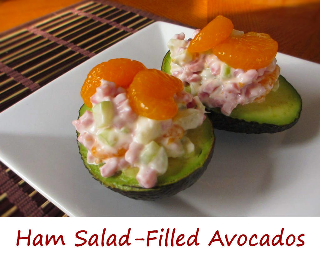 Ham Salad Filled Avocados
