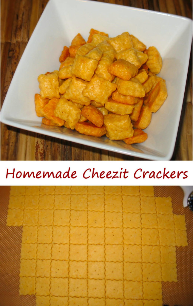 Homemade Cheezit Crackers