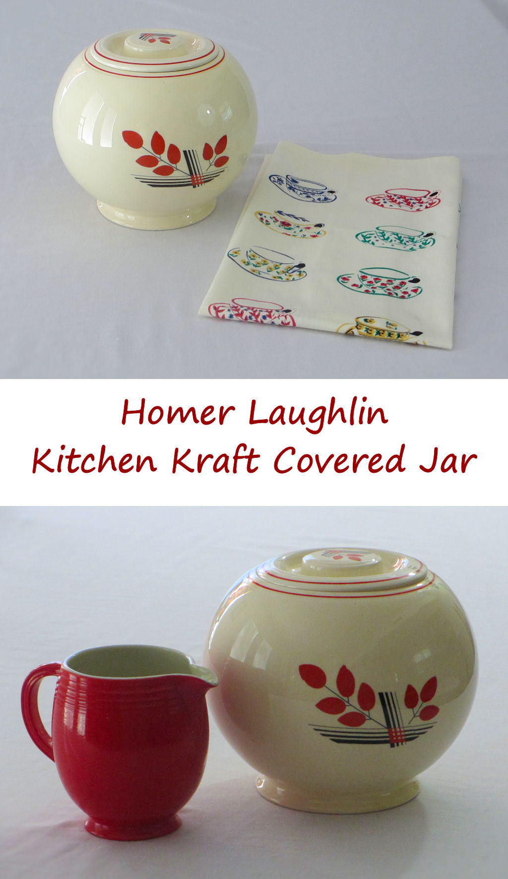 Homer Laughlin Kitchen Kraft Covered Jar   Lifeu0027s A TomatoLifeu0027s A Tomato