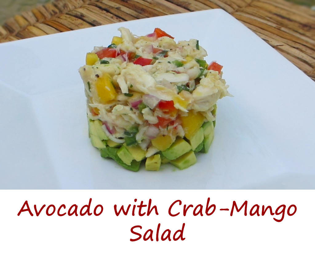Avocado with Crab-Mango Salad