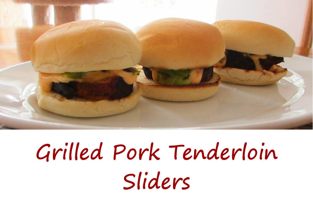 Grilled Pork Tenderloin Sliders with Chipotle Lime Mayonnaise