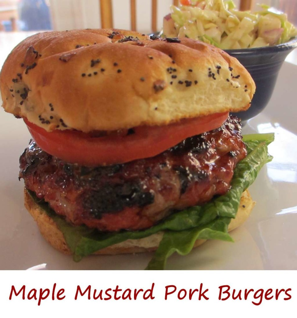 Maple Mustard Pork Burgers