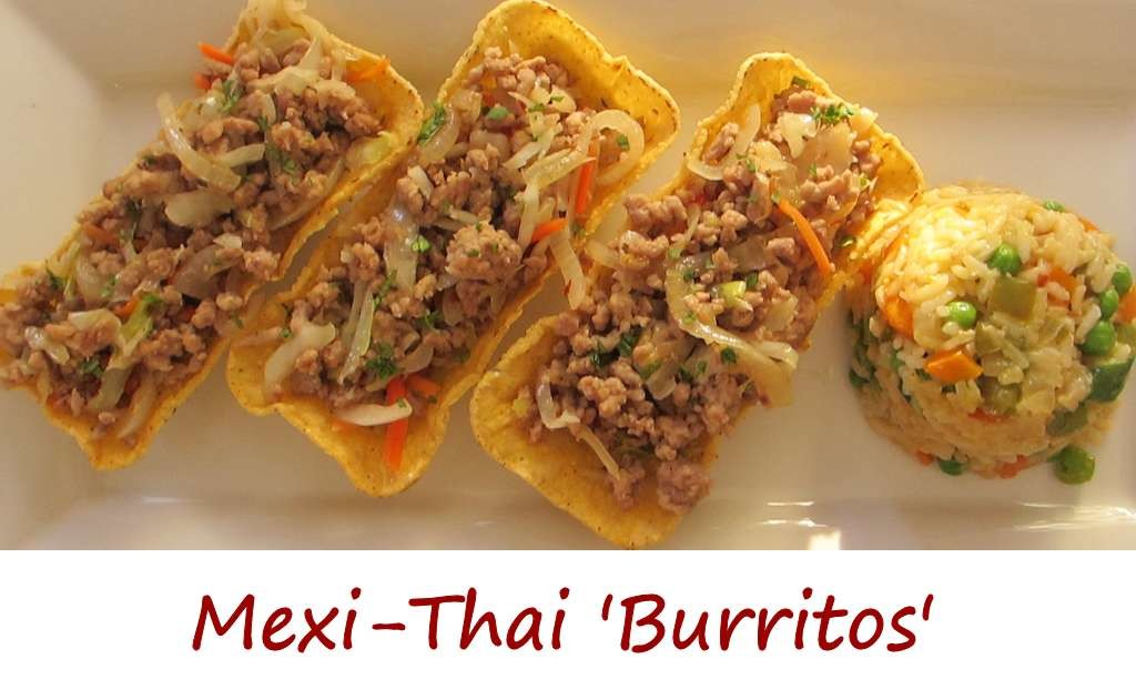 Mexi-Thai 'Burritos' with Vegetable Fried Rice