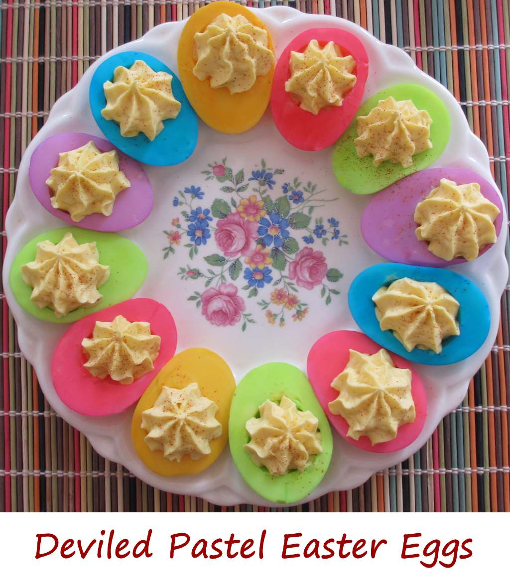 deviled pastel easter eggs lifes a tomatolifes a tomato - Pastel Food Coloring