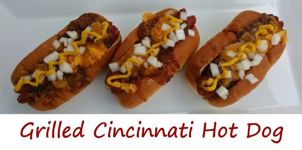 Grilled Cincinnati Hot Dog