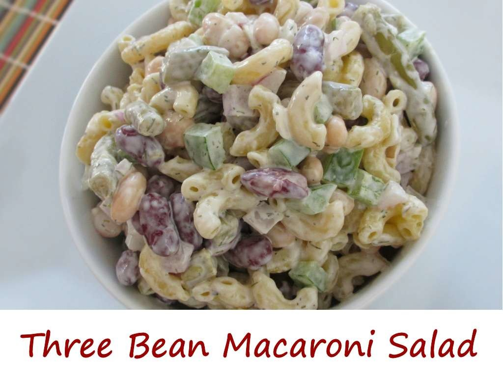 Three Bean Macaroni Salad