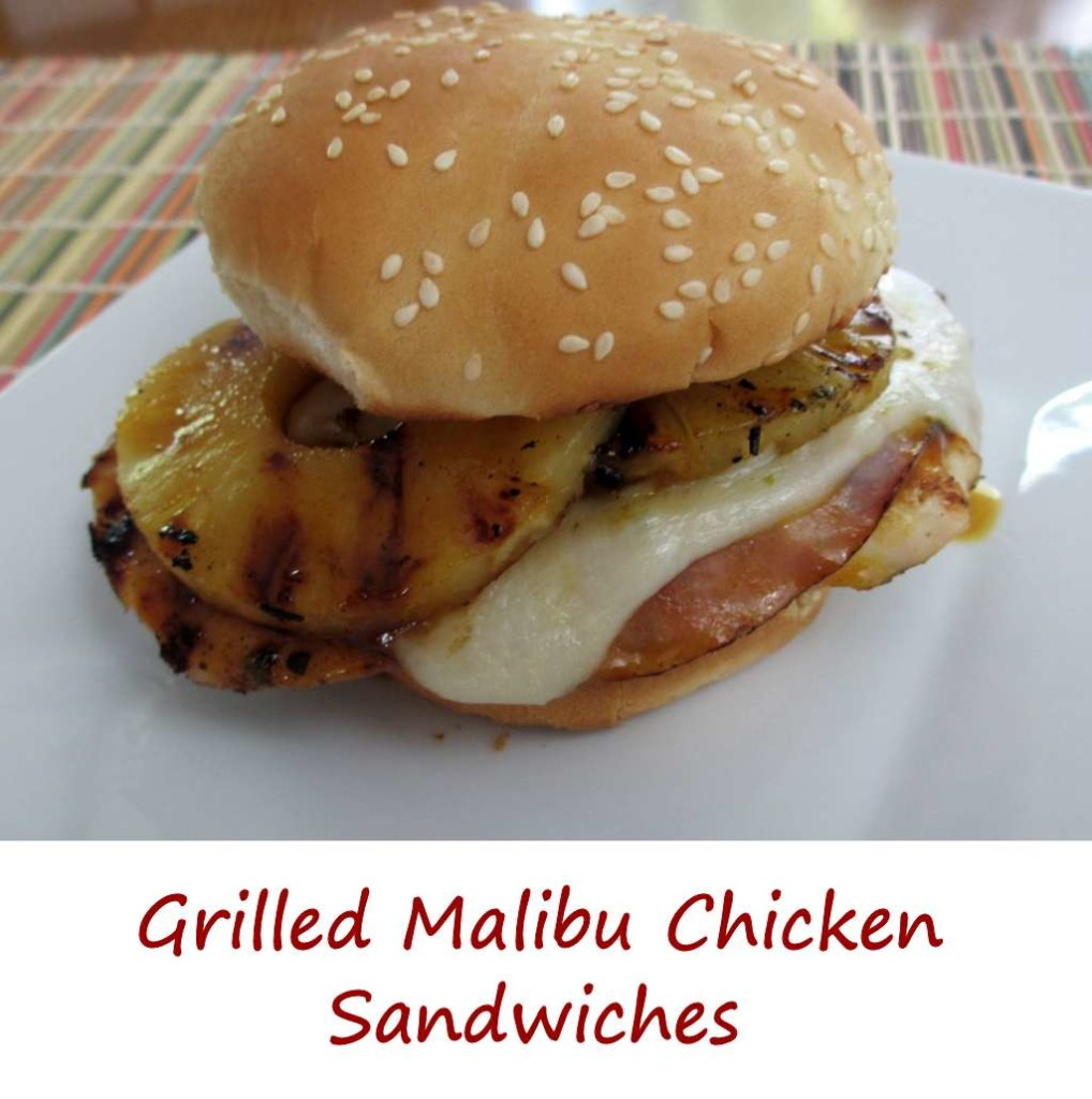 Grilled Malibu Chicken Sandwiches