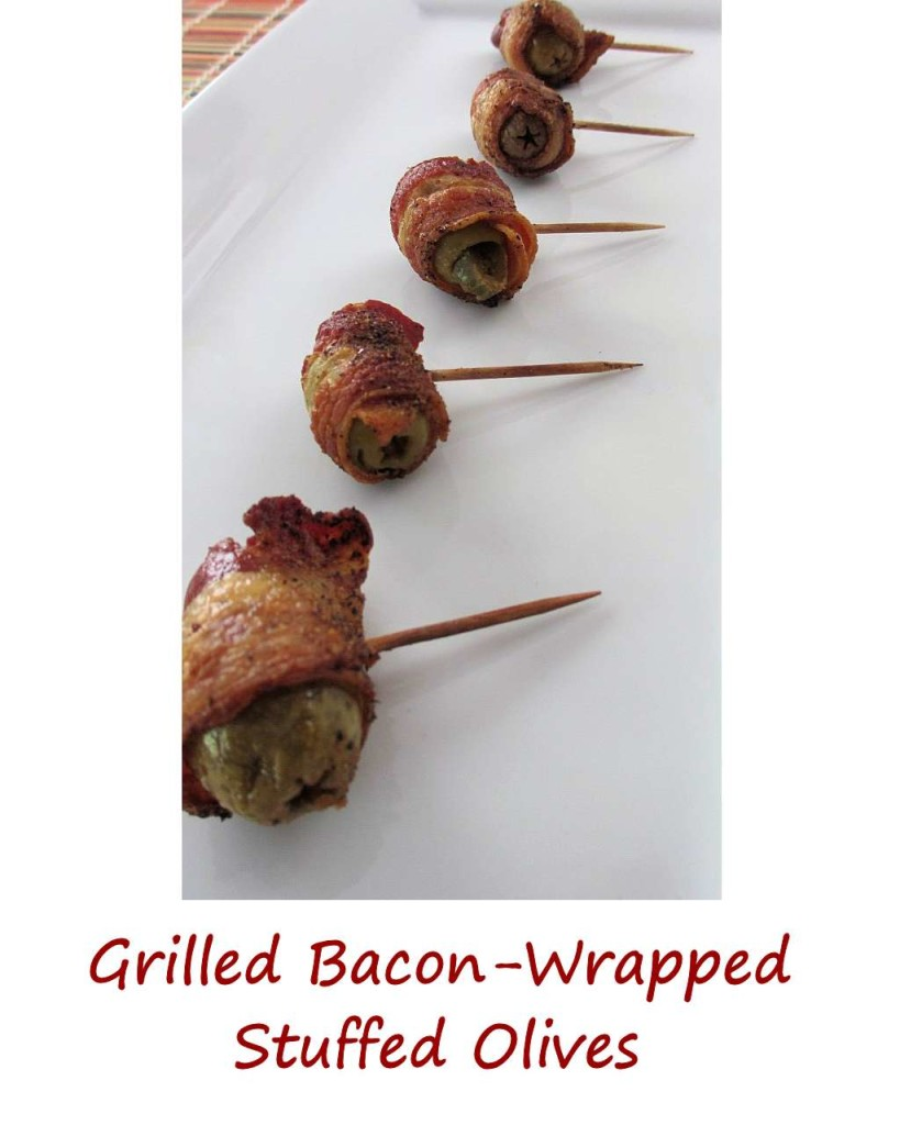 Grilled Bacon-Wrapped Stuffed Olives