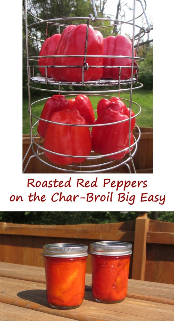 Roasted Red Peppers on the Char-Broil Big Easy
