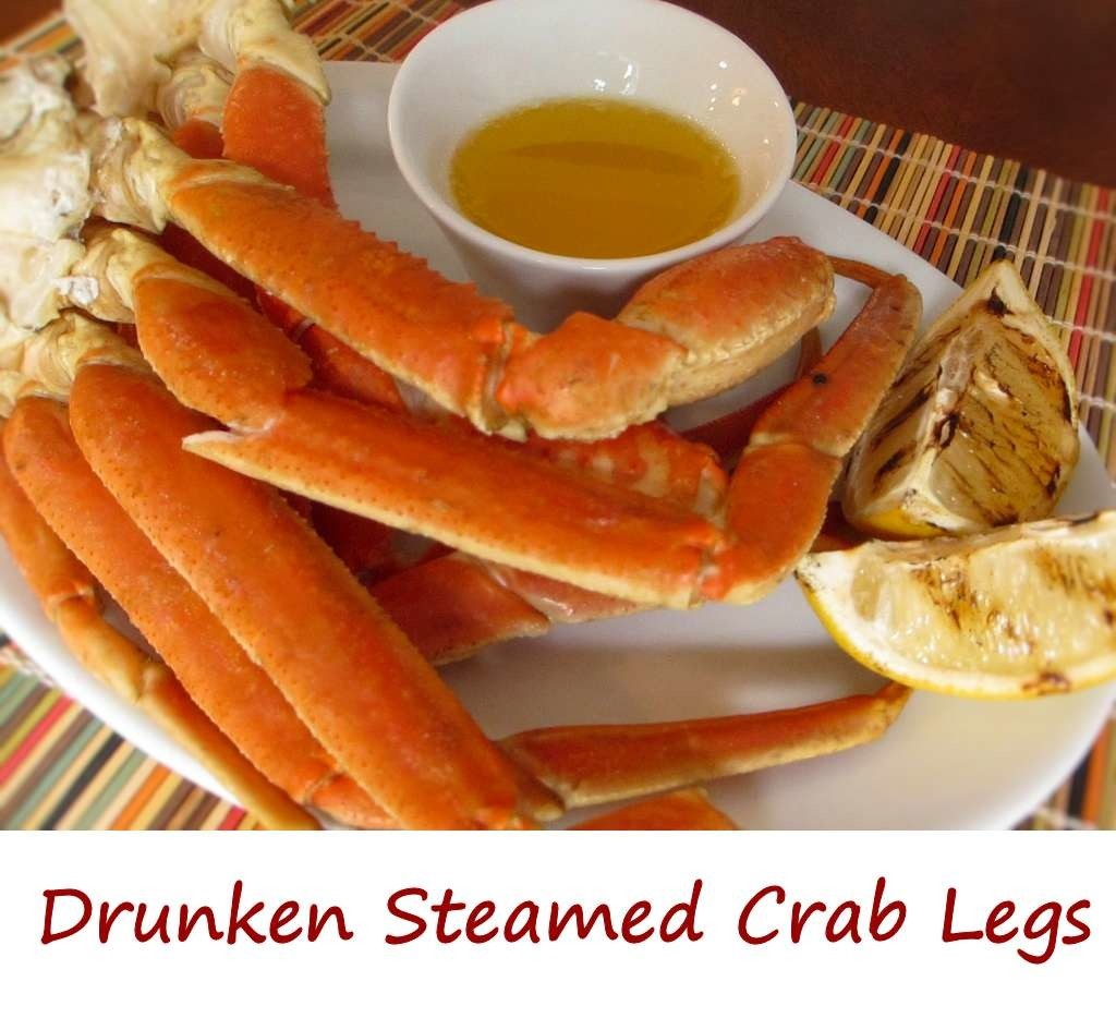 Drunken Steamed Crab Legs
