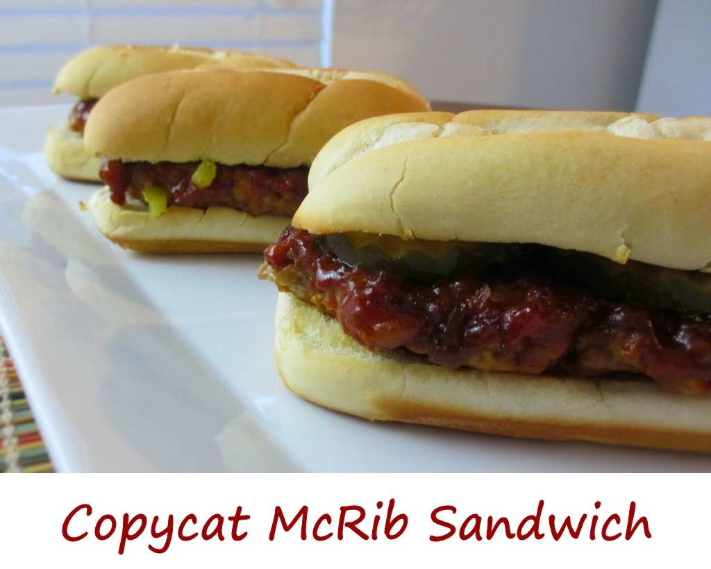 Mcrib sandwich meat recipes