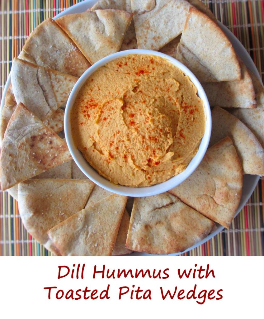 Dill Hummus with Toasted Pita Wedges