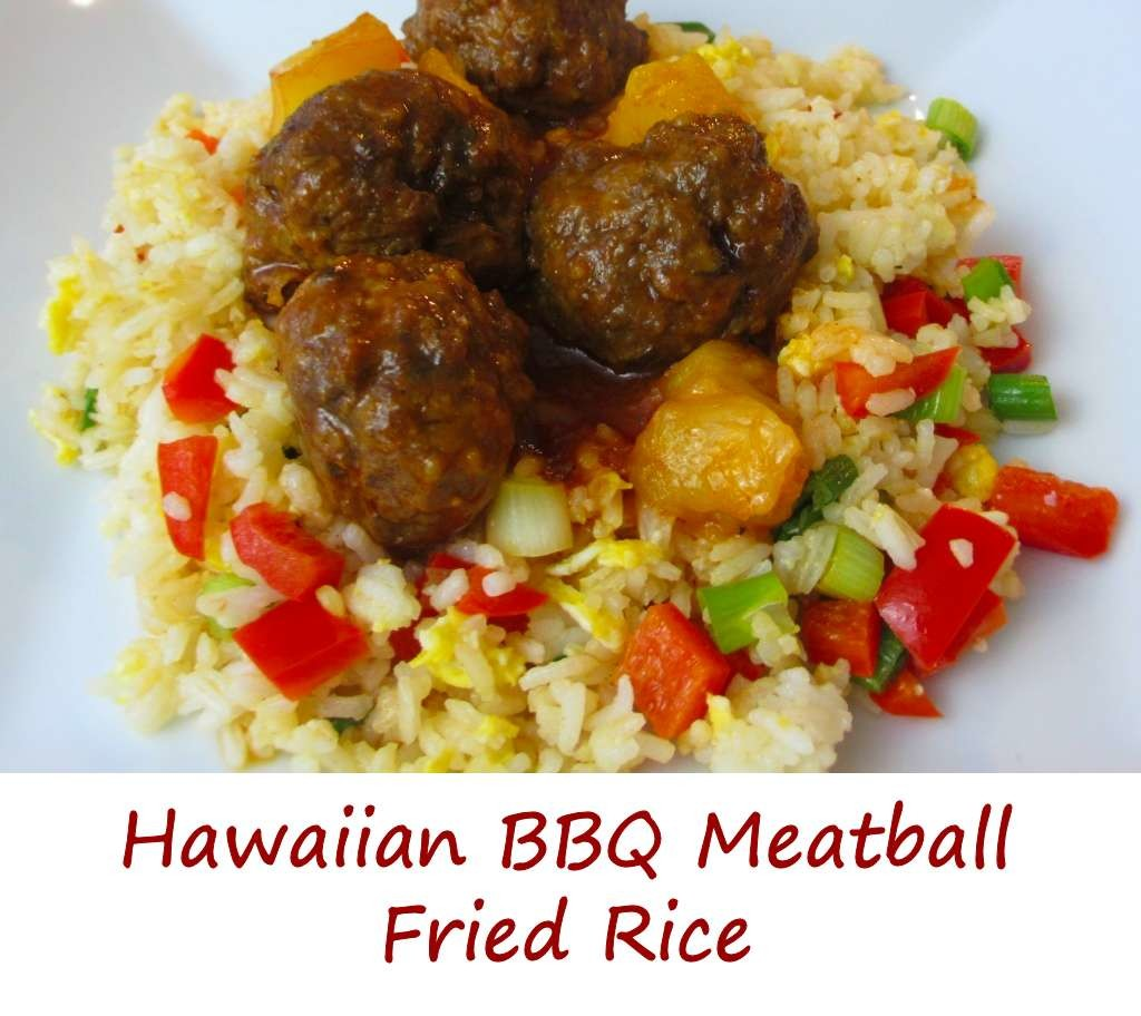 Hawaiian BBQ Meatball Fried Rice