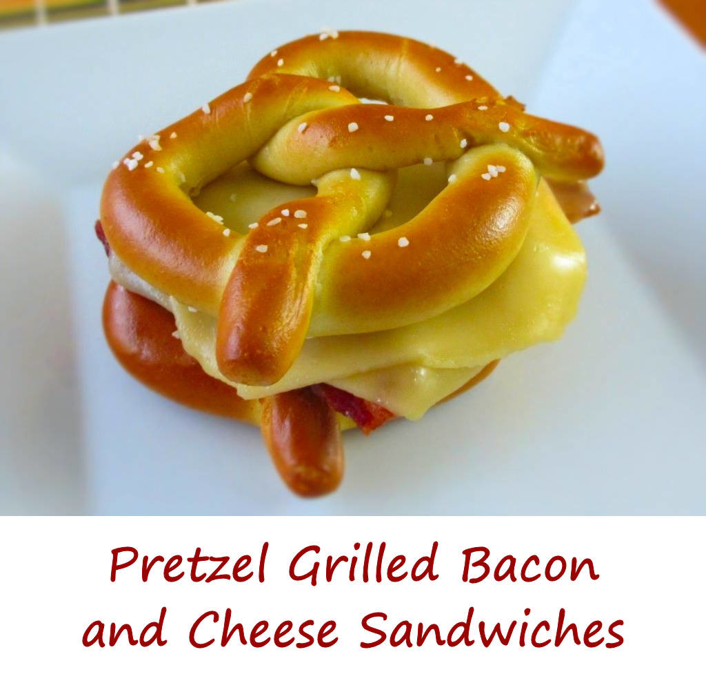 Pretzel Grilled Bacon and Cheese Sandwiches