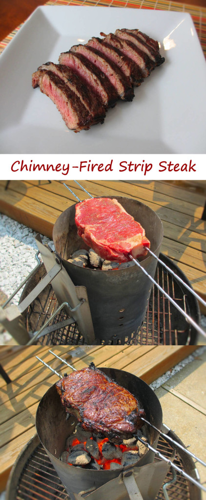 Chimney-Fired Strip Steak