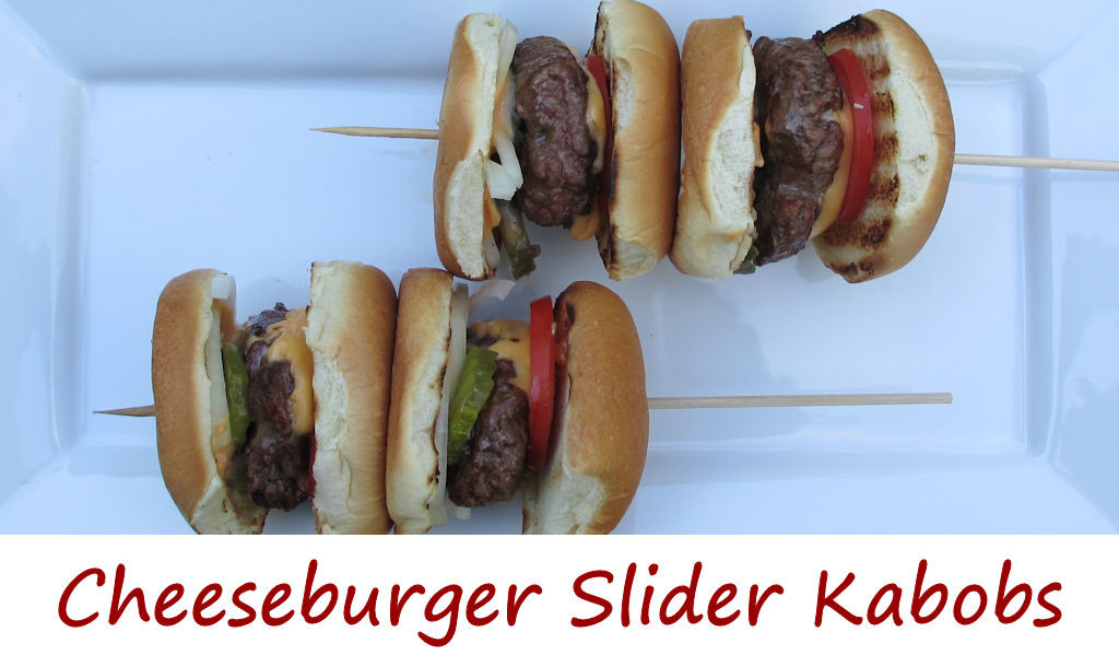Cheeseburger Slider Kabobs