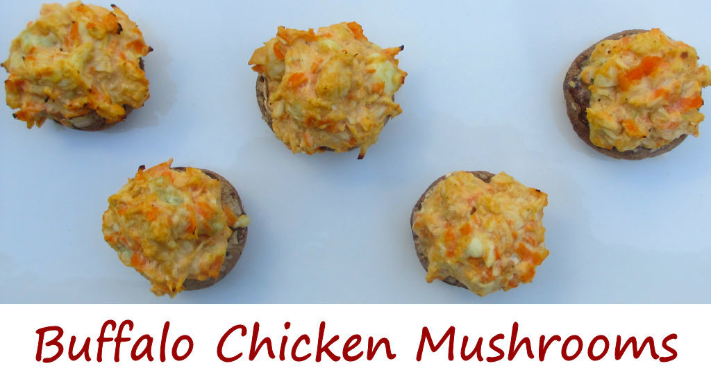 Buffalo Chicken Mushrooms
