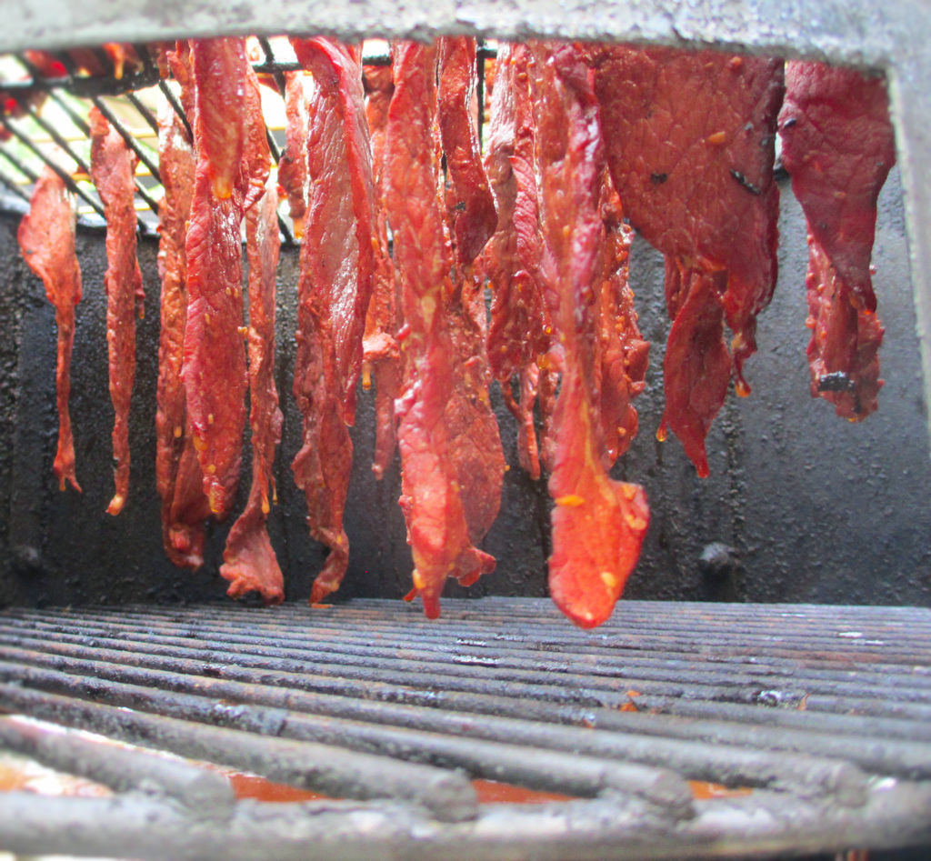Jerky on the Weber Smokey Mountain