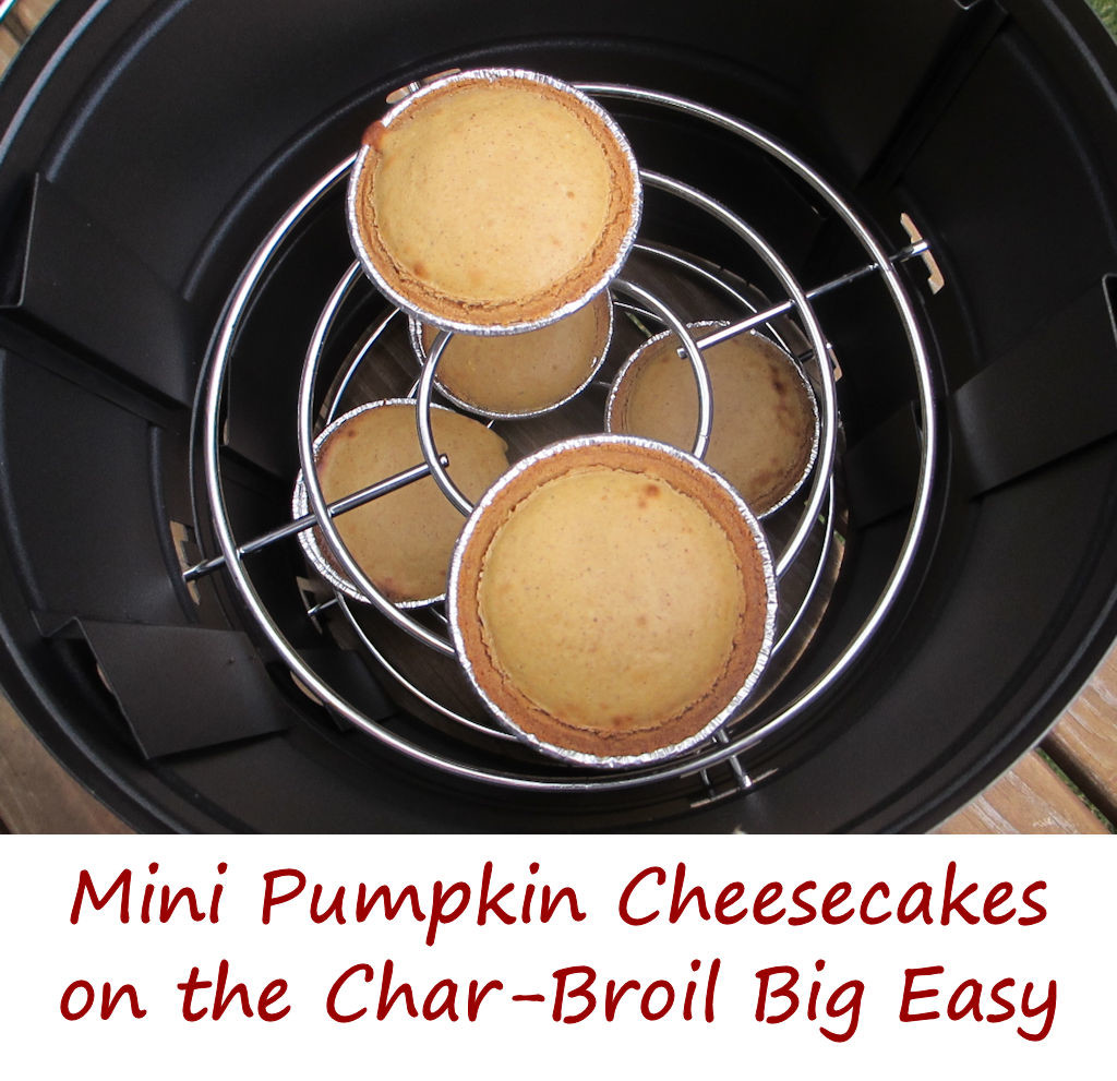 Mini Pumpkin Cheesecakes on the Char-Broil Big Easy