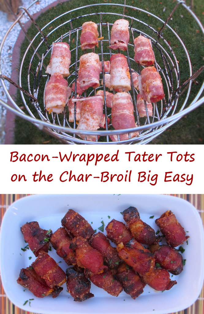 Bacon-Wrapped Tater Tots on the Char-Broil Big Easy