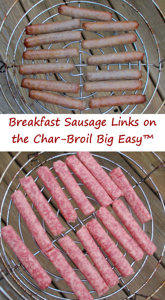 Breakfast Sausage Links on the Char-Broil Big Easy™