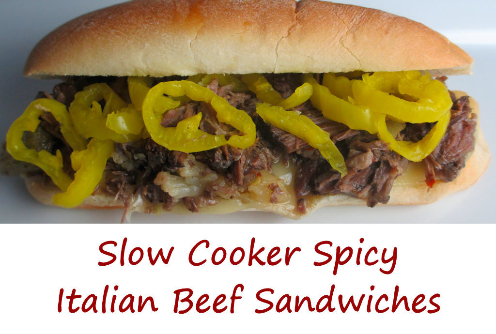 Slow Cooker Spicy Italian Beef Sandwiches - Life's A TomatoLife's A ...