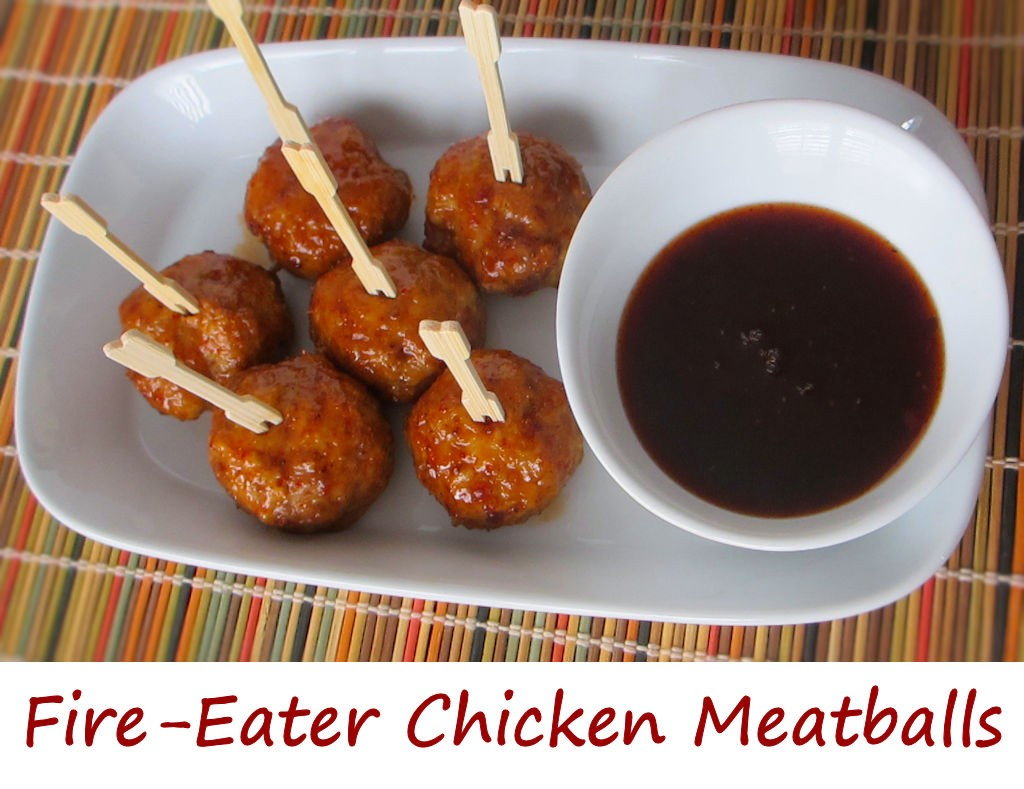 Fire-Eater Chicken Meatballs