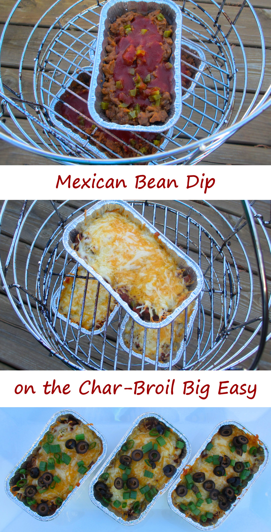 Mexican Bean Dip on the Char-Broil Big Easy