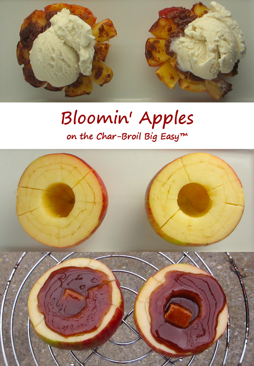 Bloomin' Apples on the Char-Broil Big Easy