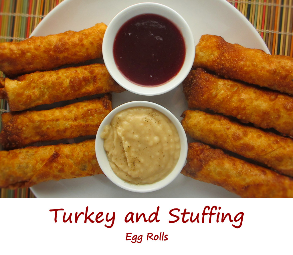 Turkey and Stuffing Egg Rolls