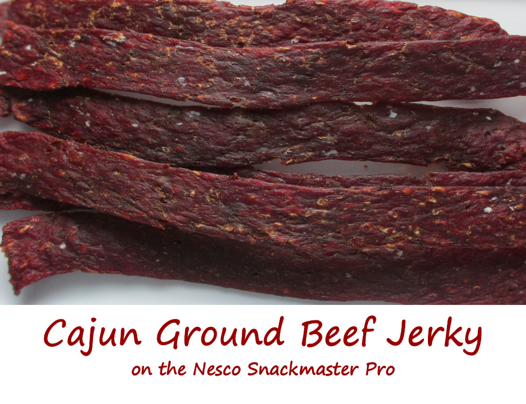 Cajun Ground Beef Jerky on the Nesco Snackmaster Pro