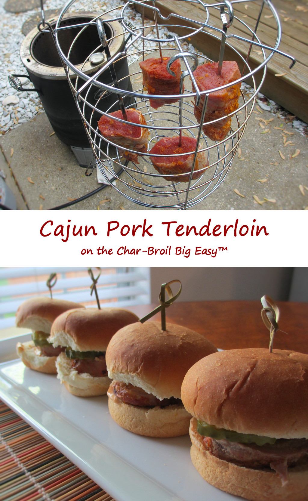 Cajun Pork Tenderloin on the Char-Broil Big Easy