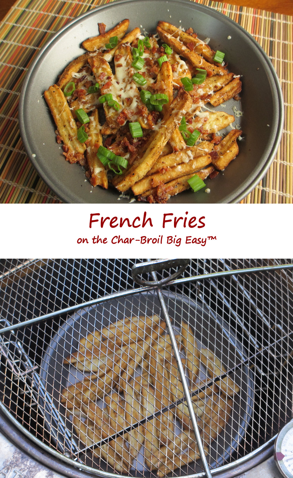 French Fries on the Char-Broil Big Easy