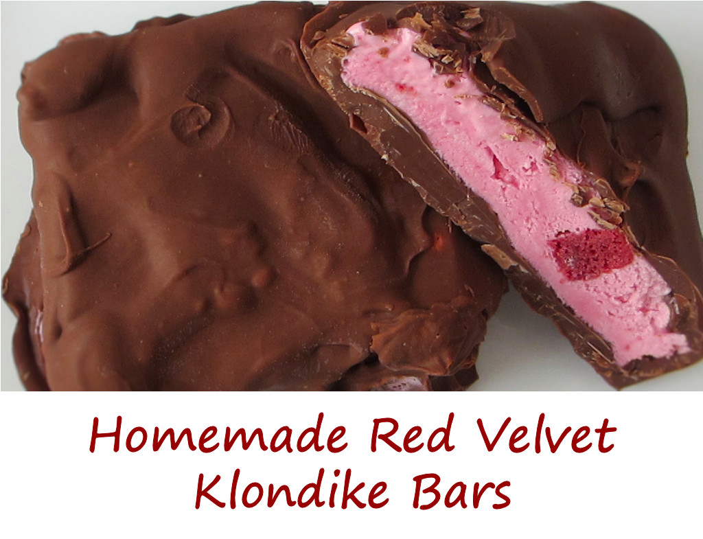 Homemade Red Velvet Klondike Bars