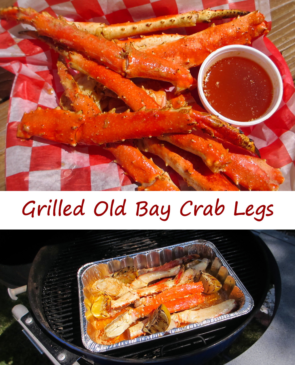 Grilled Old Bay Crab Legs