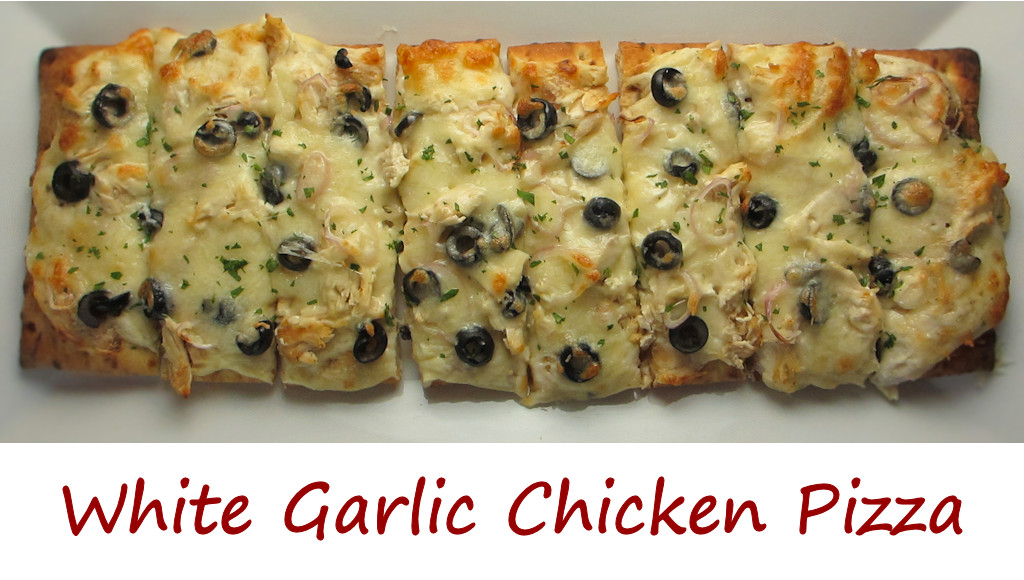 White Garlic Chicken Pizza