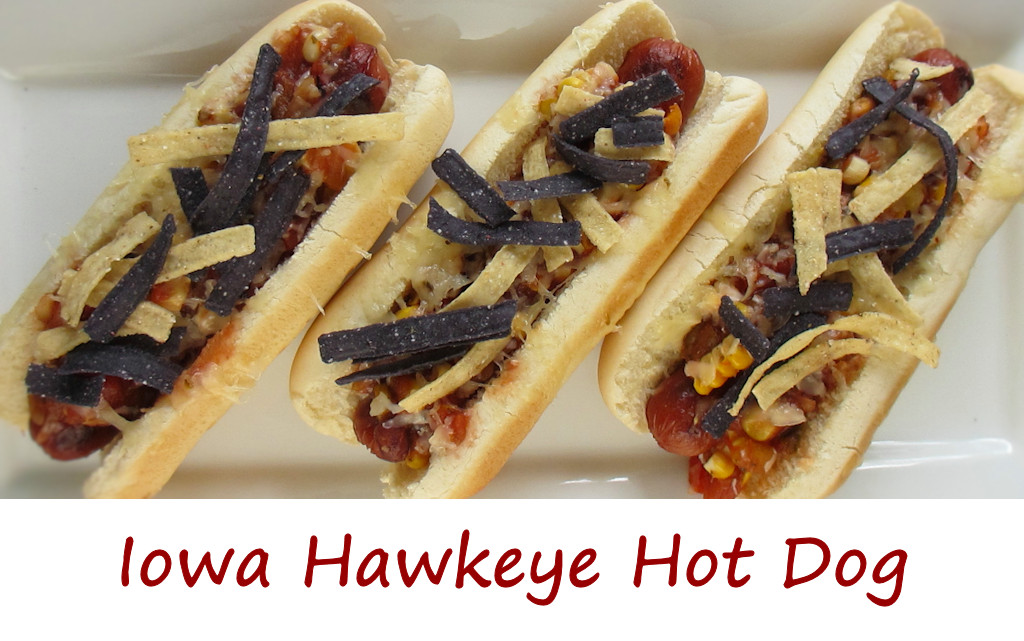 Iowa Hawkeye Hot Dog