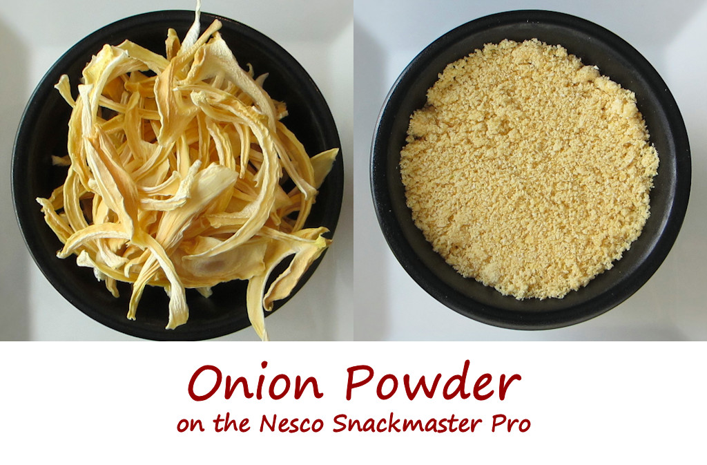 Onion Powder on the Nesco Snackmaster Pro