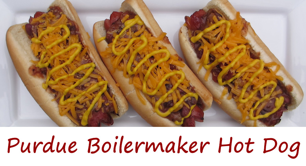 Purdue Boilermaker Hot Dog