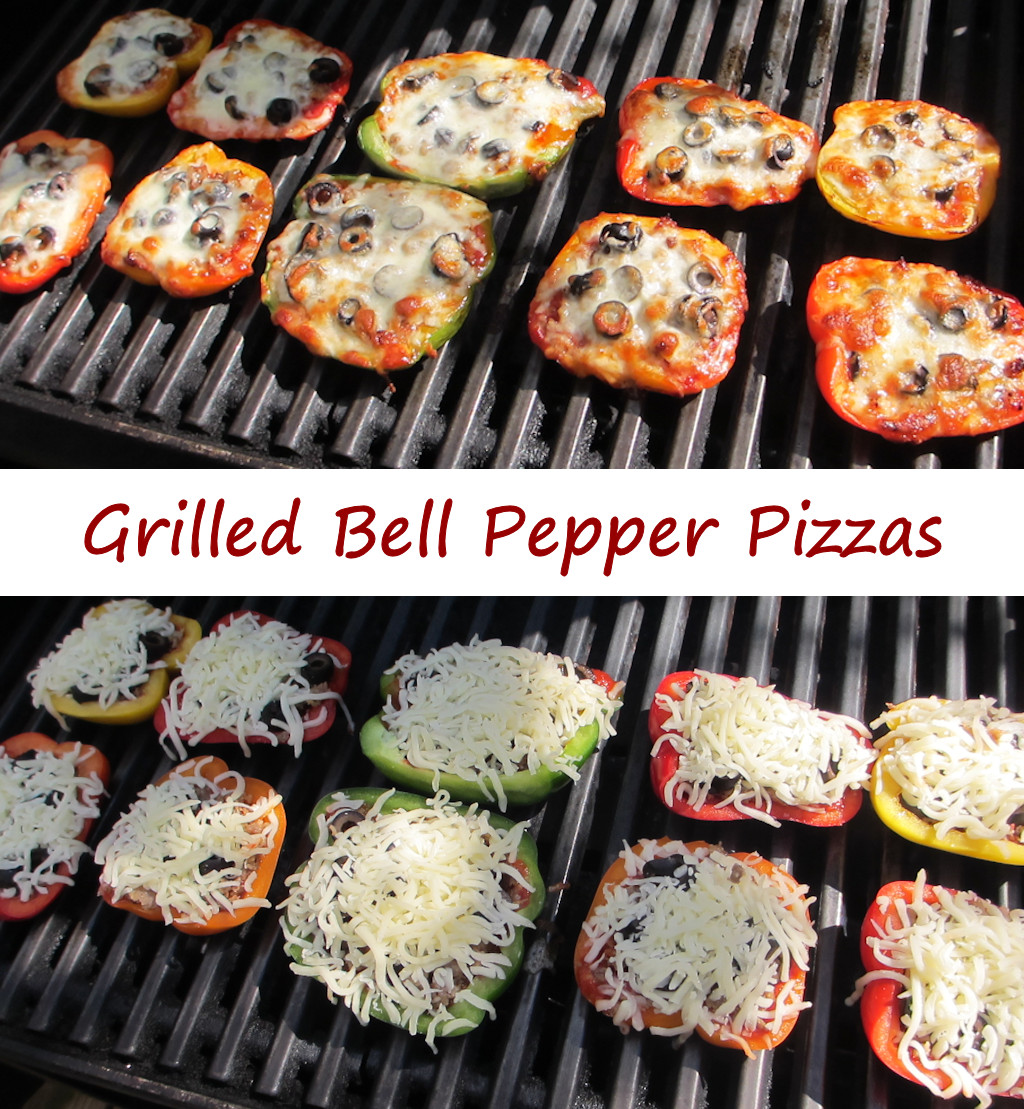 Grilled Bell Pepper Pizza