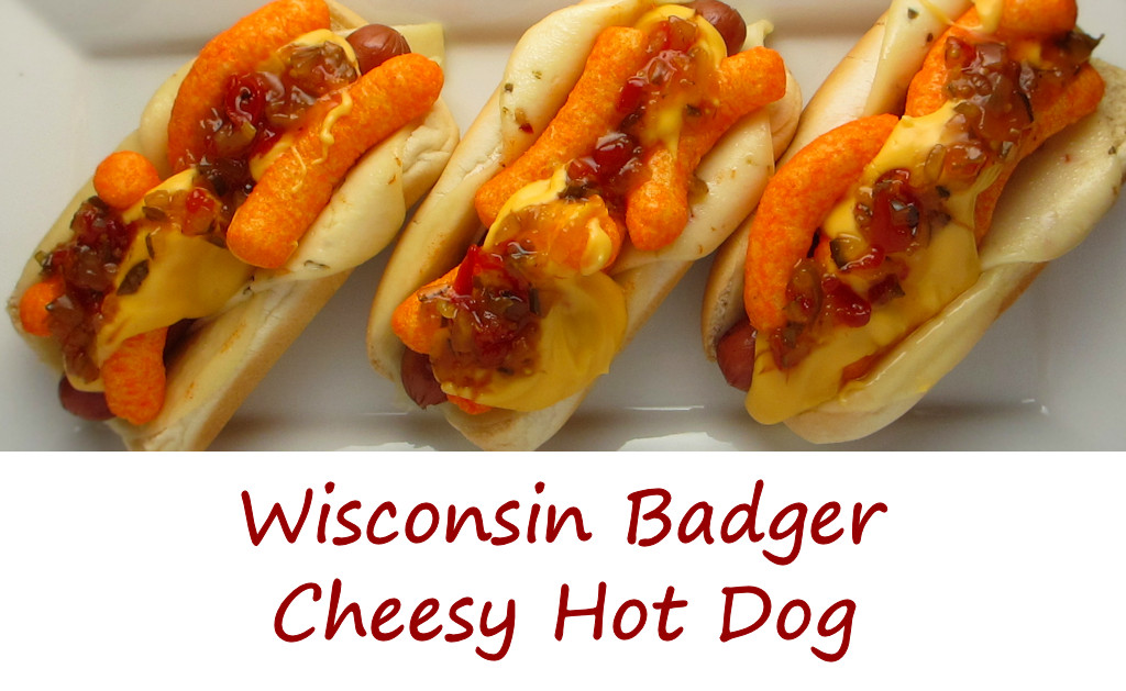 Wisconsin Badger Cheesy Hot Dog