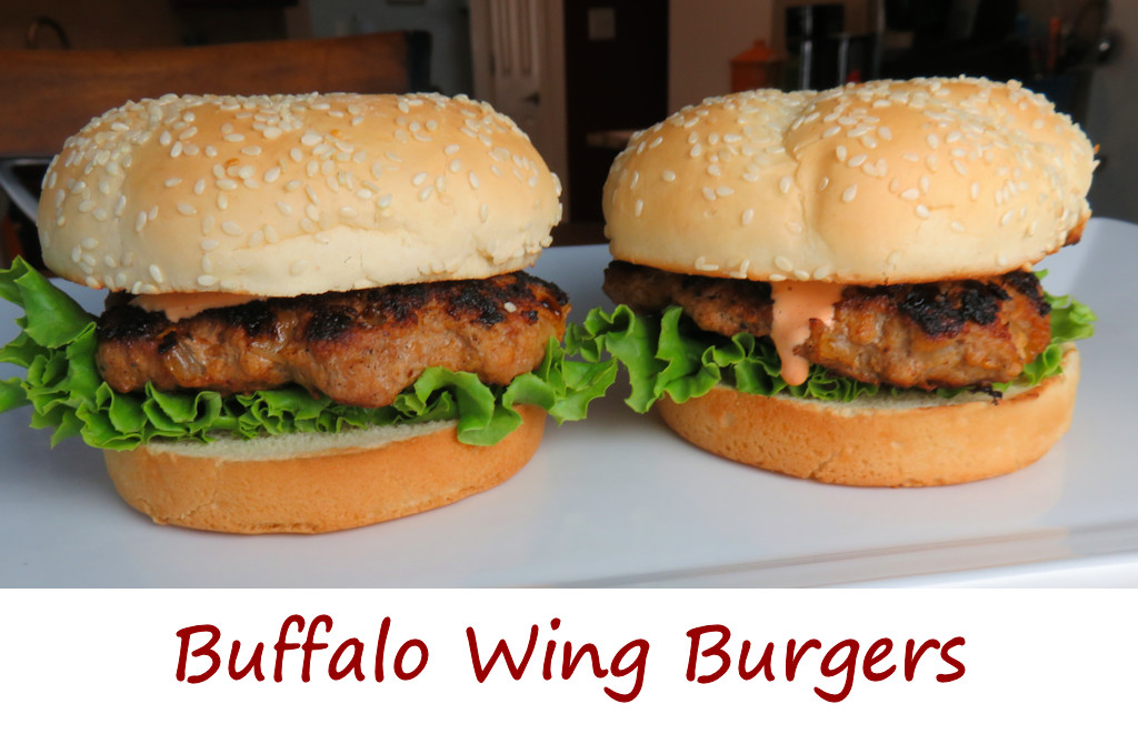 Buffalo Wing Turkey Burger Recipe — Dishmaps