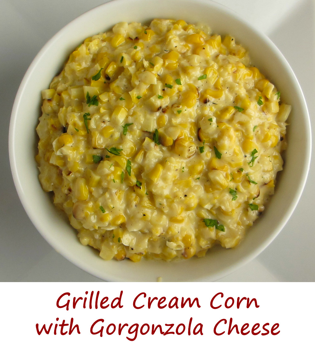 Grilled Cream Corn with Gorzonzola Cheese
