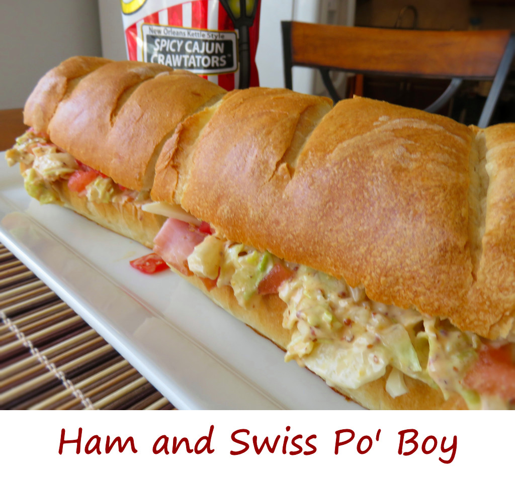 Ham and Swiss Po' Boy