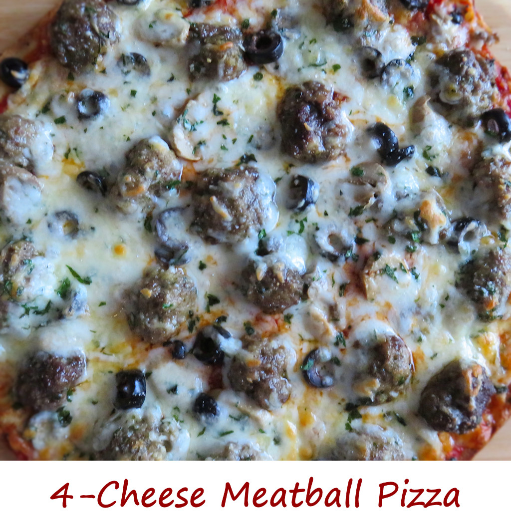 4-Cheese Meatball Pizza